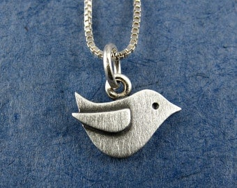 Tiny bird necklace / pendant