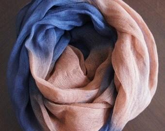 Cheesecloth, Newborn Wrap Photography Prop, Dark Blue and Orange Cheesecloth, Baby Wrap, Newborn Photo Prop, Newborn Cheeseclth Wrap, Gauze