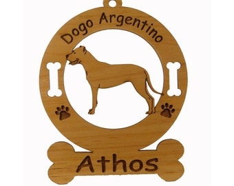 3123 Dogo Argentino Standing  Personalized With Your Dog's Name