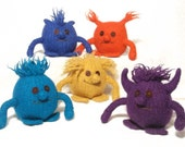 5 Felt Monster toys knitting pattern