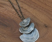 Tree Mushroom Necklace in Oxidized Sterling Silver