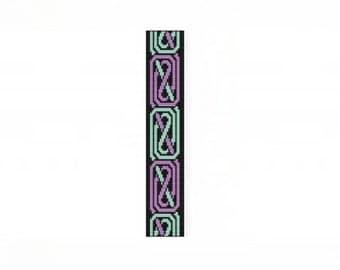 Celtic Curves Thin Bracelet - Loom or 9 Drop Odd Peyote Bead Pattern