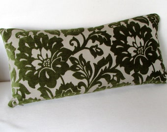 VELVET green decorative Pillow insert included 12x18 12x20 12x22 12x24 12x26