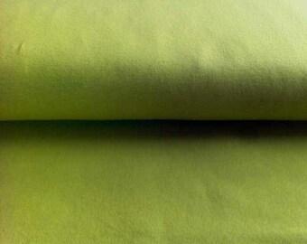 Cotton Jersey • green • uni  Knit Fabric 0.54yd (0,5m) 002421