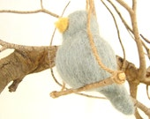 Needle Felted Bird Ornament - Wool Home Decor - Mothers Day - Valentine - Christmas Decor