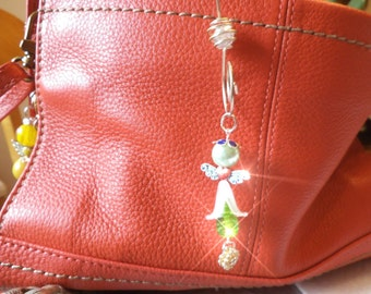 MOLLY  A Fairy Ornament, rear view mirror jewel, Suncatcher, Purse Charm, car gem