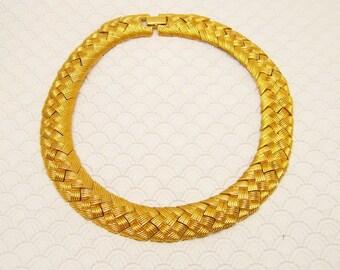 Wide Necklace Napier Vintage Jewelry Weave Pattern N6118