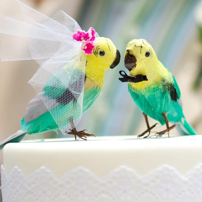 Parrot Love Birds: Unique Bride & Groom Wedding Cake ...