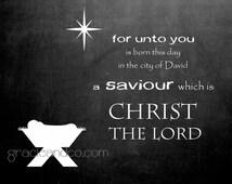Christmas notecards chalkboard christmas notes nativity manger  Christmas cards