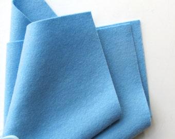 Light Blue Felt, Wool Felt Square, Three Sizes, Large Felt Sheet, 100% Merino, Craft Felt, Washable Felt, Pastel Blue Wool, Quilt Applique
