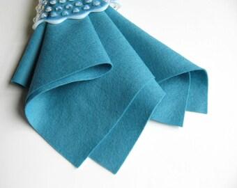 Bermuda Blue, 100% Wool, Choose Size, Large Felt Sheet, Wool Felt Square, Aqua, Turquoise, DIY Craft Supply, Stuffed Toy Fabric, Scuba Blue