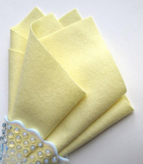 Light Yellow Felt, 100% Merino, Choose Size, Felt Sheet, Large Felt Square, Pastel, Baby Felt, Waldorf Handwork, Wool Applique, Soft Felt