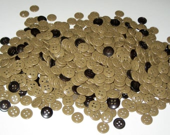 Over 700 Taupe Colored Buttons- for Altered Art, Collage, Jewelery Making, Crafts, Scrapbooking