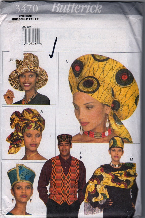 Butterick 3470 Unisex African Fashion Adult Accessories