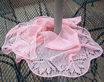 Fanflower Fling Lace Knit Shawl Pattern