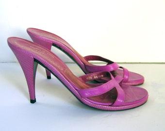 SALE  CHARLES JOURDAN Paris pink high heel sandals, 6.5 - 7