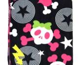 New Punk Rock Crossbones Skull Heart Baby Toddler  Fleece Stroller Blanket Last One On SALE
