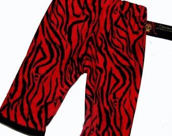 ON SALE New Punk Rock Rockabilly Red Zebra Toddler Pants size 2t - 3t - 4t