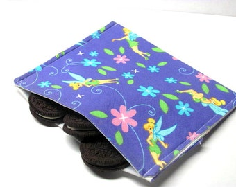 Reusable Sandwich Bag, Lg Snack Bag, Small Size Sandwich Bag, Tinker Bell, Children, Eco Friendly, Girls, Ready to Ship
