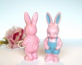 Vintage Easter Bunny Rabbits Plastic Bunny Candy Bunny Collectible Bunny Rabbit Rattle Vintage Easter Baby Decor