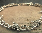 Dragon Bracelet - Dragon Link Bracelet - Game of Thrones Inspired Jewelry - Dragon Jewelry - Sterling Silver Dragon