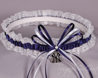 New York Yankees Lace Wedding Garter
