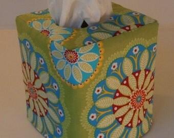 Kaleidoscope Reversible Tissue Box Cover