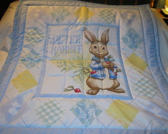 Baby Peter Rabbit Cotton Baby/Toddler Quilt- NEWLY MADE 2016