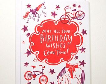Birthday Wishes Folded Card