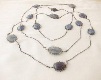 Labradorite  long necklace