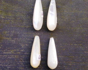 Small Long Rounded Drop 22x7 mm Luxe Collection South Sea Mother of Pearl