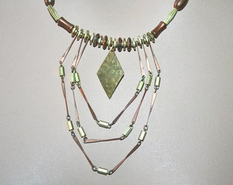 1970s Vintage Necklace Metals Tribal Boho Hippie