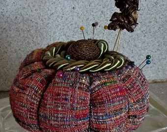 Multi-Colored Silk Pincushion
