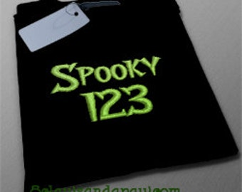 Spooky Embroidery Font Includes 6 Sizes