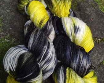 Handpainted sock yarn, fingerling yarn, Superwash Merino  Nylon, 100 grams-Wiz Khalifa