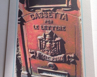 Italy Photo Art Notecard