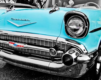 Chevrolet Bel Air Car Photography, Automotive, Auto Dealer, Classic, Muscle, Sports Car, Belair, Mechanic, Boys Room, Garage, Dealership Art
