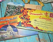 Vintage color fold out POST CARDS - Tourist attractions