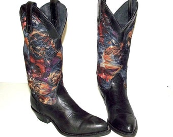 Blue Tapestry western fashion cowgirl boots -  Capezio brand