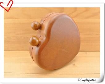 Heart wood box purse frame 15.5cm x 15.5 cm (6  inch x 6  inch ) M76