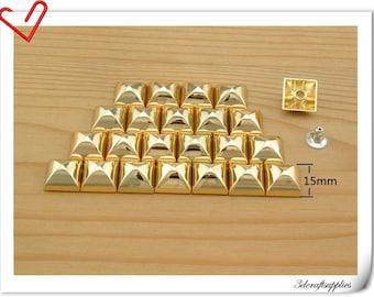 15mm gold pyramid Rivet Studs Spots,rivet stud,decorative rivets 20sets AC51B