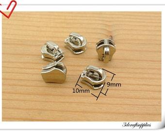 Zipper slider #3  Easy-setting Zinc zipper slider  (Zipper pull) Nickel 25pcs AC116