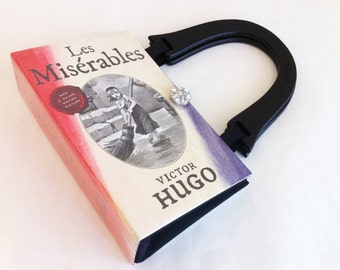 Les Miserables Recycled Book Purse - History Buff Gift - Recycled Handbag - Theatre Goer Gift - Patron of the Arts Gift - Bookish Accessory