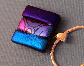 Cheers - Dichroic Glass Pendant Necklace