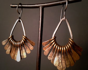 Brass Teardrop Tribal