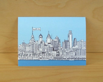 Philadelphia Skyline Card - Thank you, Hello, Yo, Birthday