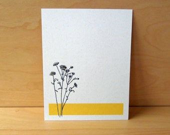 Daisy - Set of 12 Noteflat cards - recycled paper
