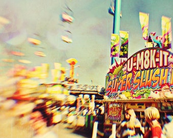 Carnival Photography, Carnival Food, Dreamy, Pastels, Nursery Decor, Kids Room, Yellow Green, Toronto, Bright Colours  - Super Slush