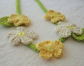 flower necklace for little girls daisy cream and yellow by yourmomdesigns - removable blossoms montessori inspired