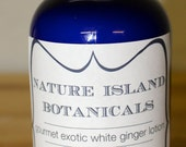 Exotic White Ginger Body Lotion. A Sensual Aroma